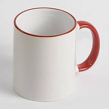 Чашка з червоною облямівкою