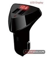 Автомобильное зарядное устройство Remax Aliens с LED экраном RCC-208 3.4A 2*USB