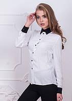 Женская офисная блузка с воротником