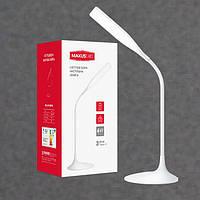 Светодиодная настольная лампа с аккумулятором белая 6W 4100K MAXUS