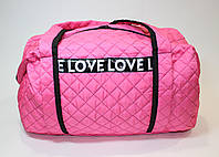 Сумка женская спортивная Love Love розовая