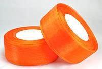 Лента из органзы оранжевая 3.8см ЛШ38-10