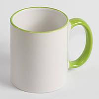 Чашка с салатовой каймой