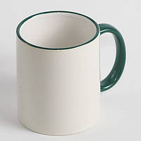 Чашка с зеленой каймой