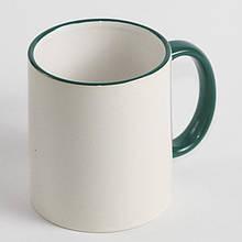 Чашка з зеленою облямівкою