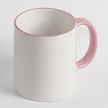 Чашка з рожевою облямівкою