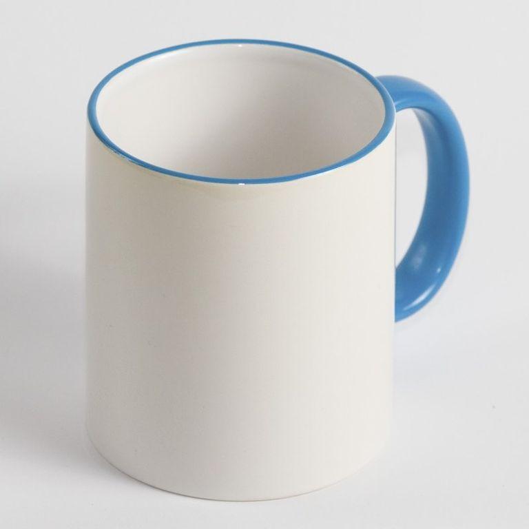 Чашка з бірюзовою облямівкою