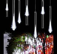 Внутренняя Светодиодная Гирлянда Тающие Сосульки LED 50 см Бегущая Капля Белый Синий Мульти