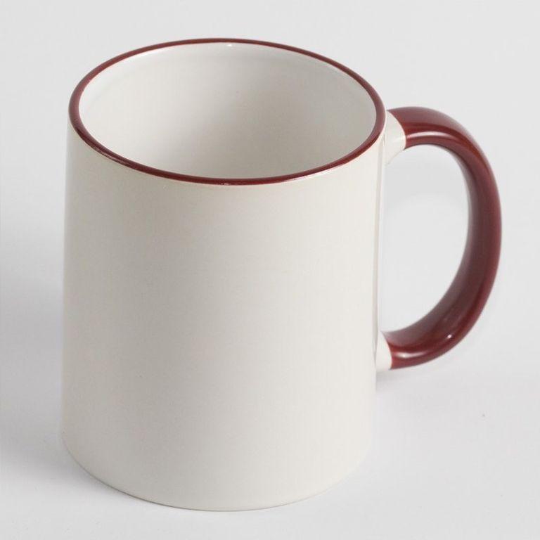 Чашка с бордовой каймой