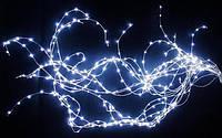 Новогодняя Светодиодная Гирлянда Нить Капелька Одноцветная для Дизайна Помещений Цвета в Ассортименте
