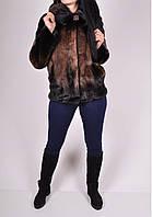 Полушубок женский из натурального меха норки (объем 110см, длина 70см.) арт.Monggier Fur (Код: 2500002608146)