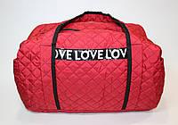 Сумка женская спортивная Love Love красная
