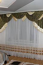 Ламбрекен из портьерной ткани Анабель, фото 2