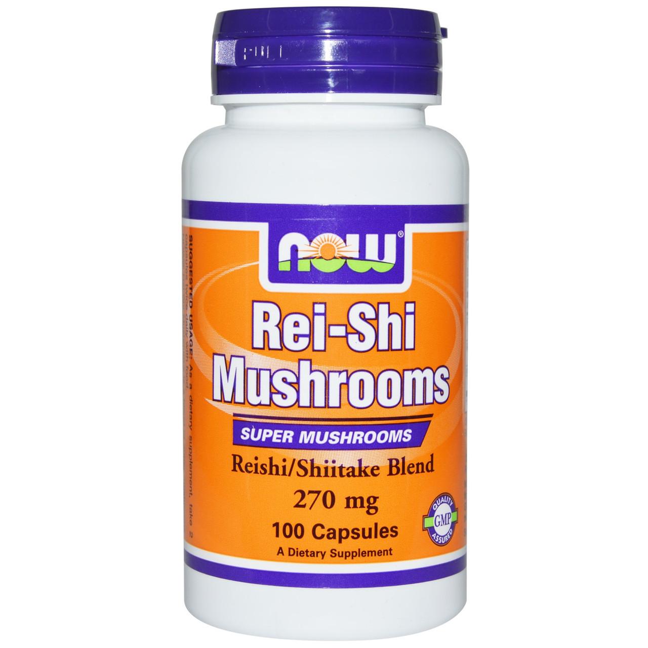 Гриб Рейши, Now Foods, 270 мг, 100 капсул. Сделано в США.