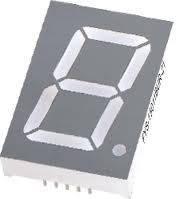 Зеленый семисегментный LED индикатор FYS-15011 BG-21 (30,6*8*44) 1-разрядный FORYARD (общий анод)