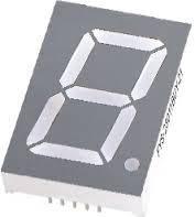 Красный семисегментный LED индикатор FYS-23012 BS-21 (69,7*12*47,8) 1-разрядный  FORYARD (общий анод)