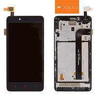 Дисплей + touchscreen (сенсор) для Xiaomi Redmi Note 2, с передней панелью, оригинал, черный