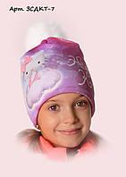Детская шапка на флисе Китти 7