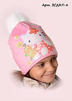 Детская шапка на флисе Китти 8