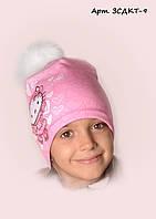 Детская шапка на флисе Китти 9