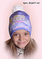 Детская шапка на флисе Китти 10