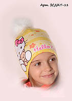 Детская шапка на флисе Китти 11