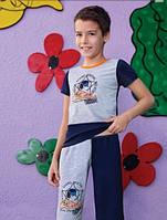 Летняя пижама, комплект для мальчика 4-10 лет, Звезда, Berrak