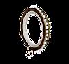 Кольцо карнизное безшумное с кристаллами для трубы Ø25мм