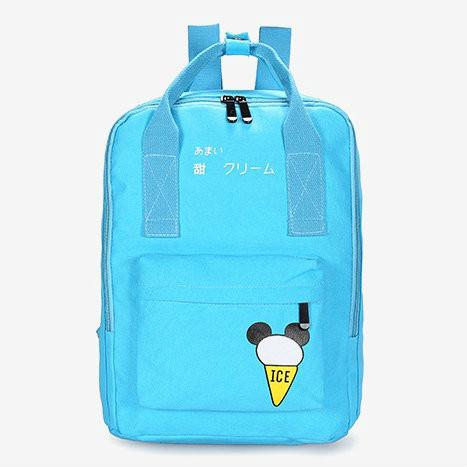Сумка-рюкзак молодежная с принтом мороженого