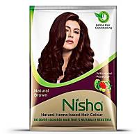 """Хна для окрашивания волос в порошке коричневая от ТМ """"Nisha"""", 30г"""