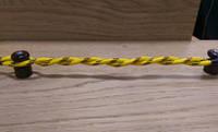 Провод для наружной электропроводки желтый с коричневым