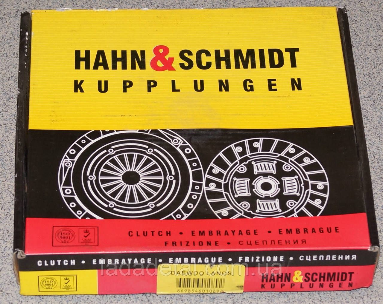 Диск сцепления Ланос 1,5 Hahn & Schmidt