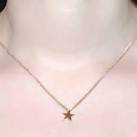 Золотой кулон Счастливая звезда