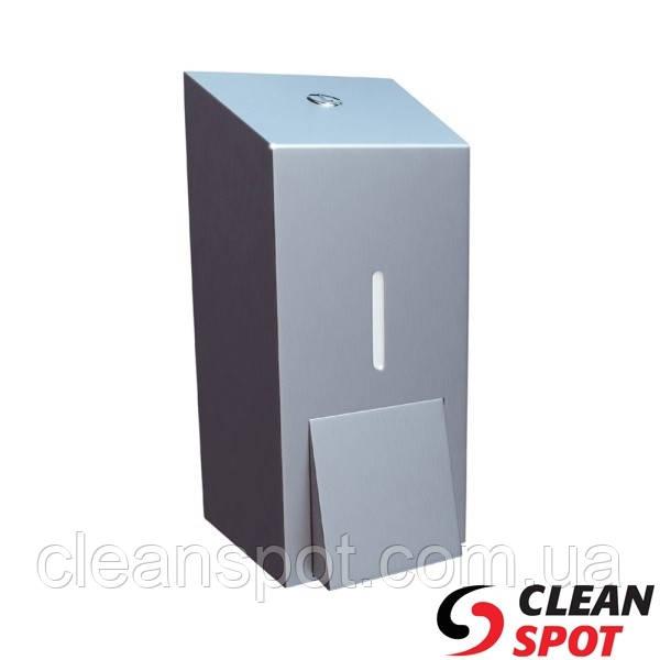 Дозатор для мыла жидкого наливной 400 мл. матовая нержавеющая сталь