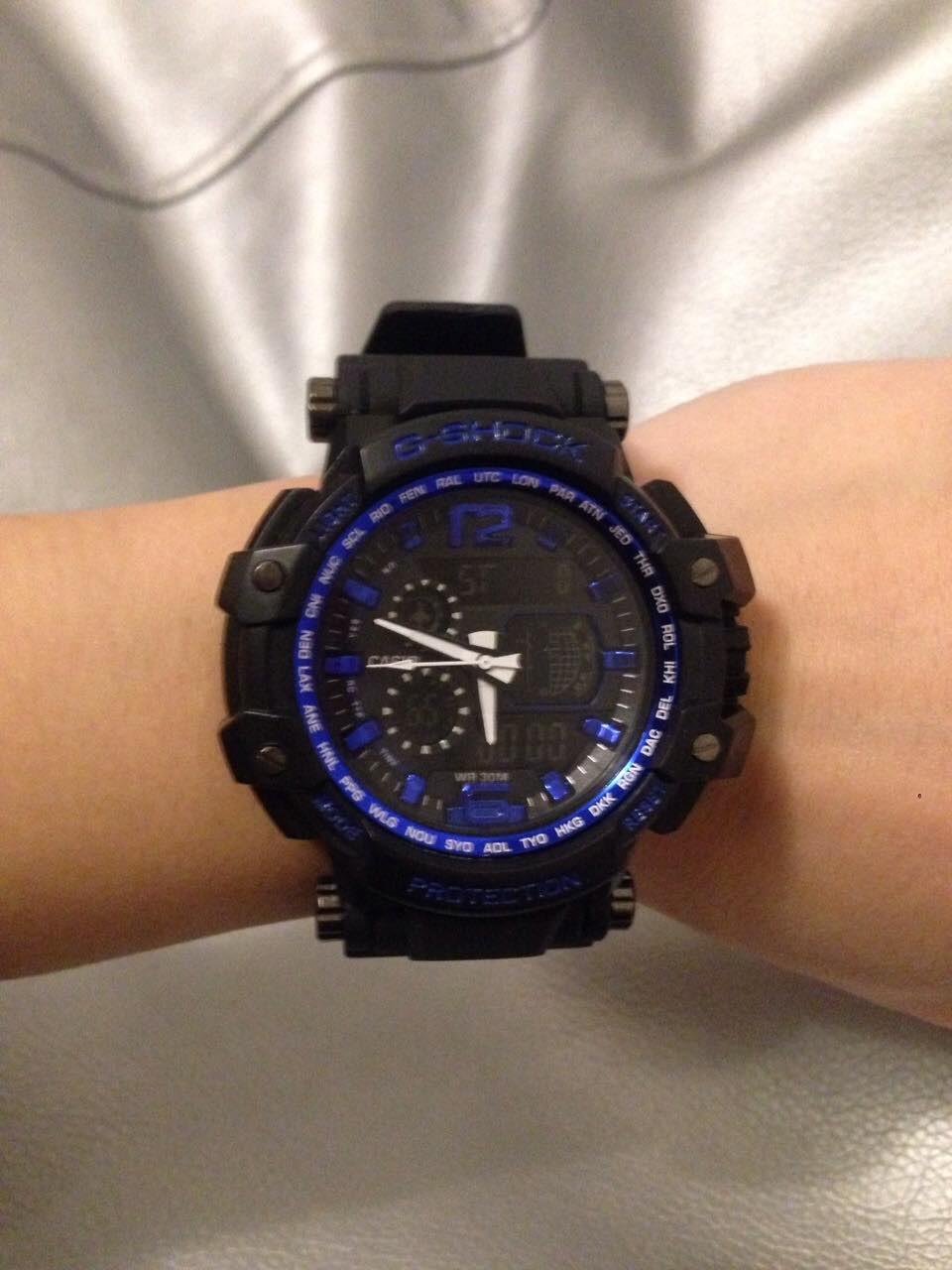 Мужские спортивные водостойкие часы G-SHOCK (копия), синие