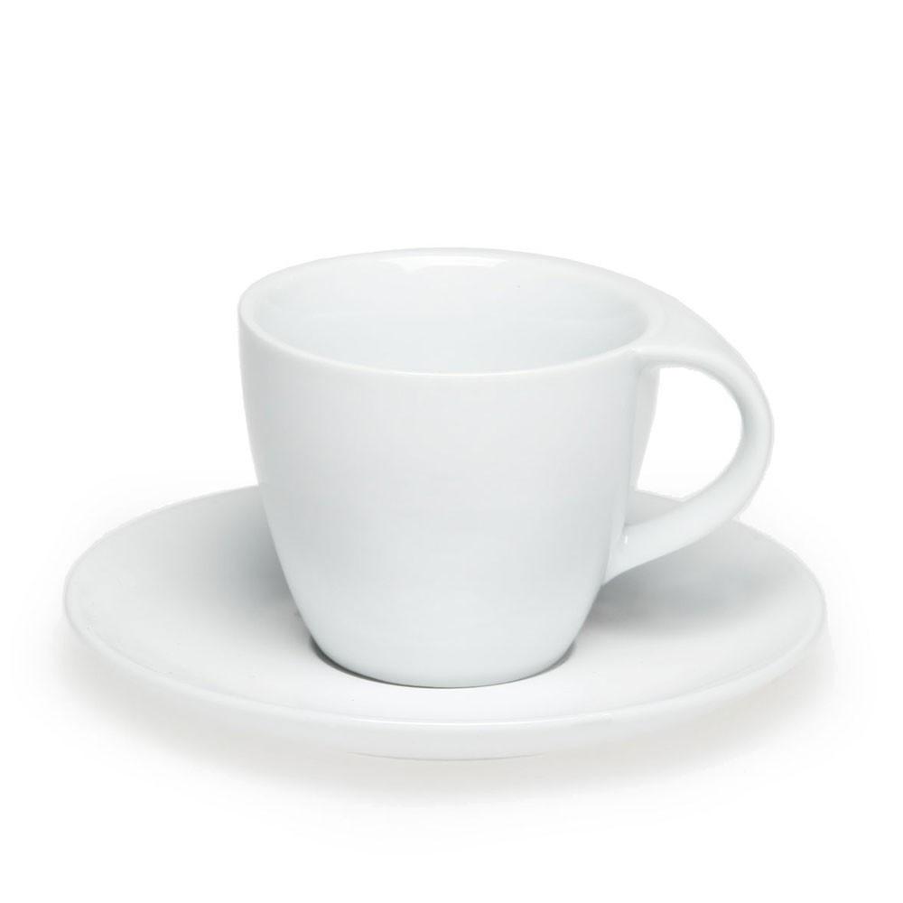 Чашка керамическая с блюдцем 'Симона', 200мл, цвет Белый