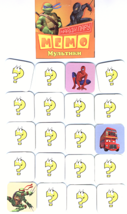 Карточки МЕМО Мультики, фото 2
