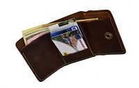 """Шкіряний гаманець унісекс кожаный кошелек бумажник унисекс """"Вudget"""" ручної роботи , фото 1"""