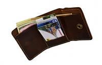 """Шкіряний гаманець унісекс кожаный кошелек бумажник унисекс """"Вudget"""" ручної роботи"""