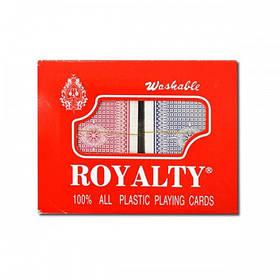"""Карты """"Royalty"""" 100% картон, две колоды, в пластмассовой коробке (2 сорт)"""