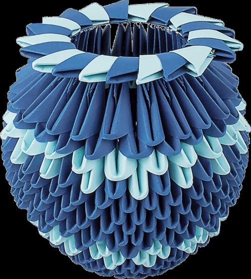 "Модульное оригами ""Синяя ваза"""