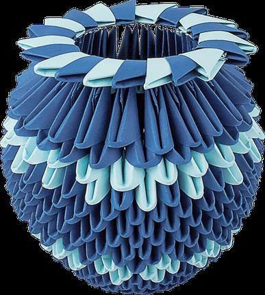 """Модульное оригами """"Синяя ваза"""", фото 2"""