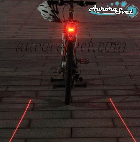 задний фонарь для велосипеда с лазерной дорожкой