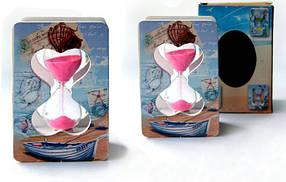 """Часы песочные декоративные """"Книга"""" 10.5x6.5x4 см."""