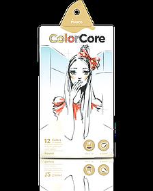 """Карандаши цветные 12 цветов """"MARCO"""" ColorCore Round 3130-12CB"""