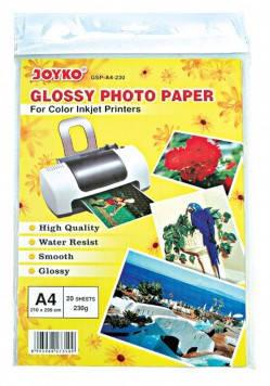 """Фотобумага глянцевая А4 """"JOYKO"""" (230g) 20 листов, фото 2"""