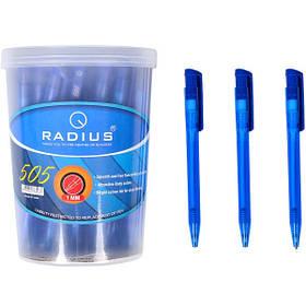 Ручка кулькова Radius 505 в банку синя 1 мм, 50 шт.