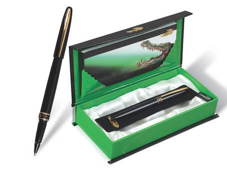 Ручка капиллярная Crocodile 215 R в подарочной упаковке, фото 2