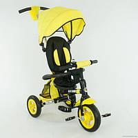 Детский трехколесный велосипед, надувные колеса Желтый (668-1)