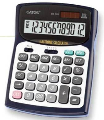 """Настольный калькулятор  """"EATES"""" BM-005 (12 разрядный, 2 питания), фото 2"""